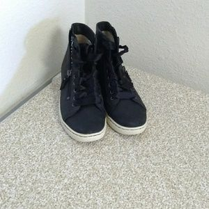 Ugg Australia Black Jewelled Lace Up Sneakers